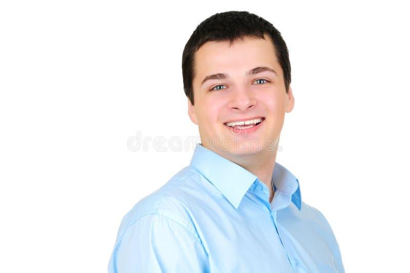 Retrato de um homem de negócio isolado no branco foto de stock