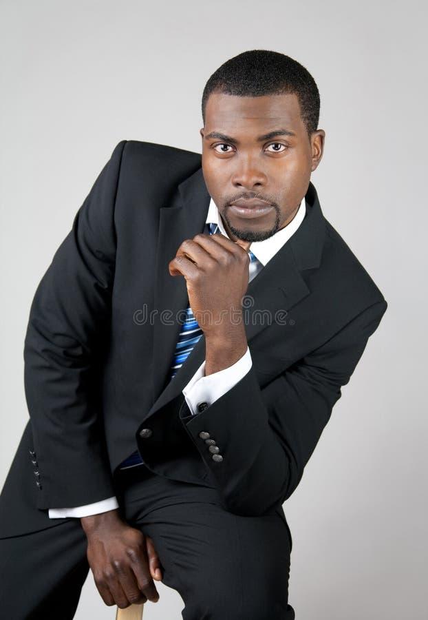 Retrato de um homem de negócio novo imagens de stock royalty free