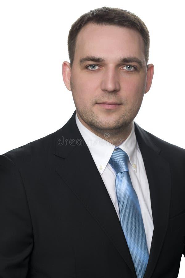 Retrato de um homem de negócios alegre fotografia de stock