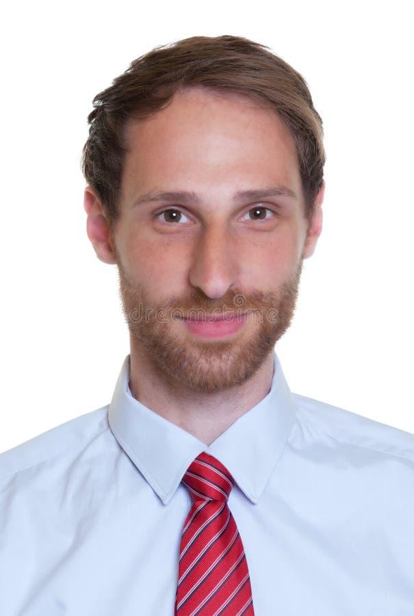 Retrato de um homem de negócios alemão com barba imagens de stock royalty free