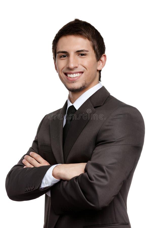 Retrato de um homem de negócios considerável imagem de stock