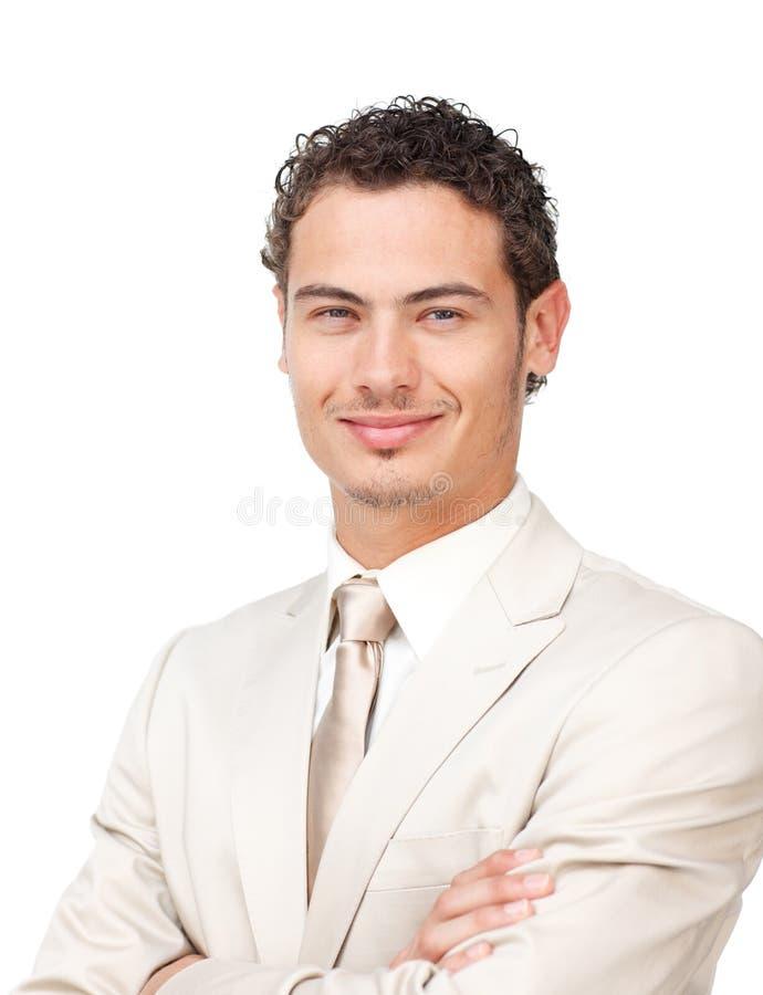 Retrato de um homem de negócios latino-americano carismático imagem de stock