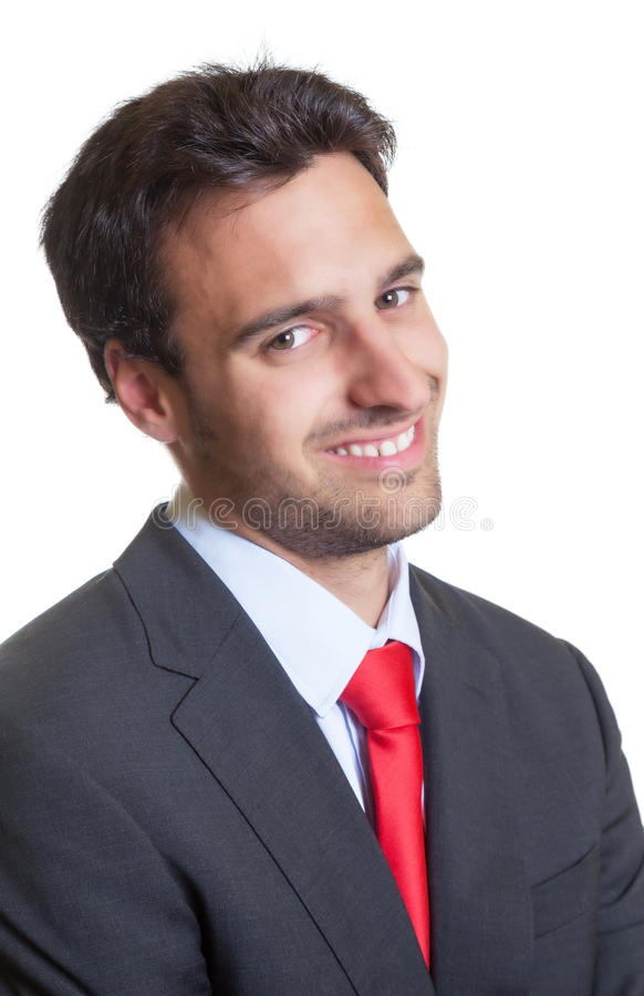 Retrato de um homem de negócios latino-americano com terno imagens de stock royalty free