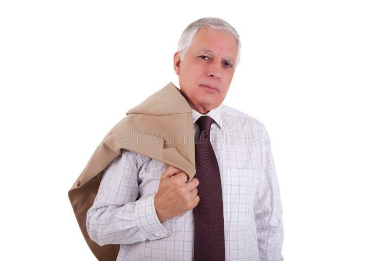 Retrato de um homem de negócios maduro considerável, prendendo fotografia de stock