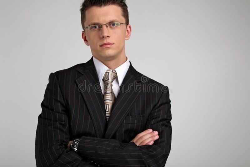 Retrato de um homem de negócios novo 2 imagens de stock