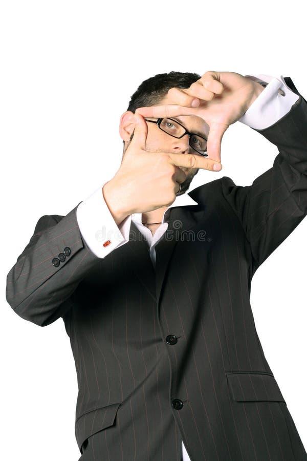 Retrato de um homem de negócios novo imagens de stock royalty free
