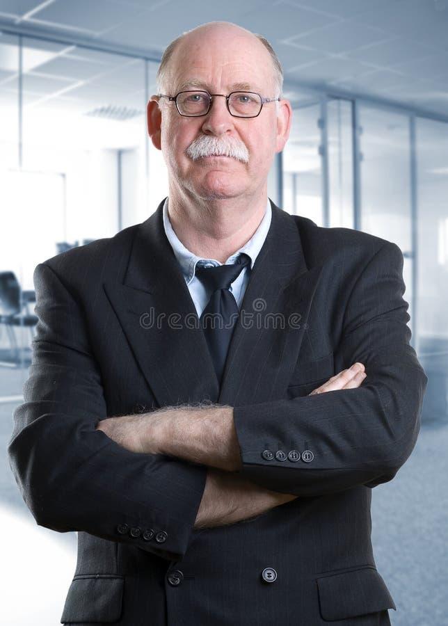 Retrato de um homem de negócios sênior fotografia de stock royalty free