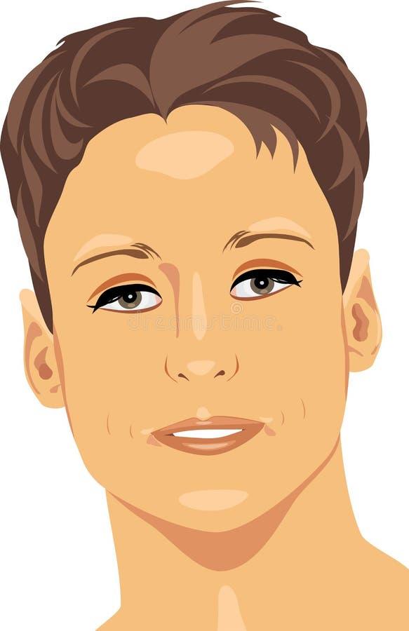 Retrato de um homem novo ilustração royalty free
