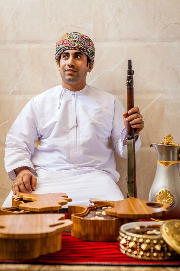 Retrato de um homem omanense imagem de stock royalty free