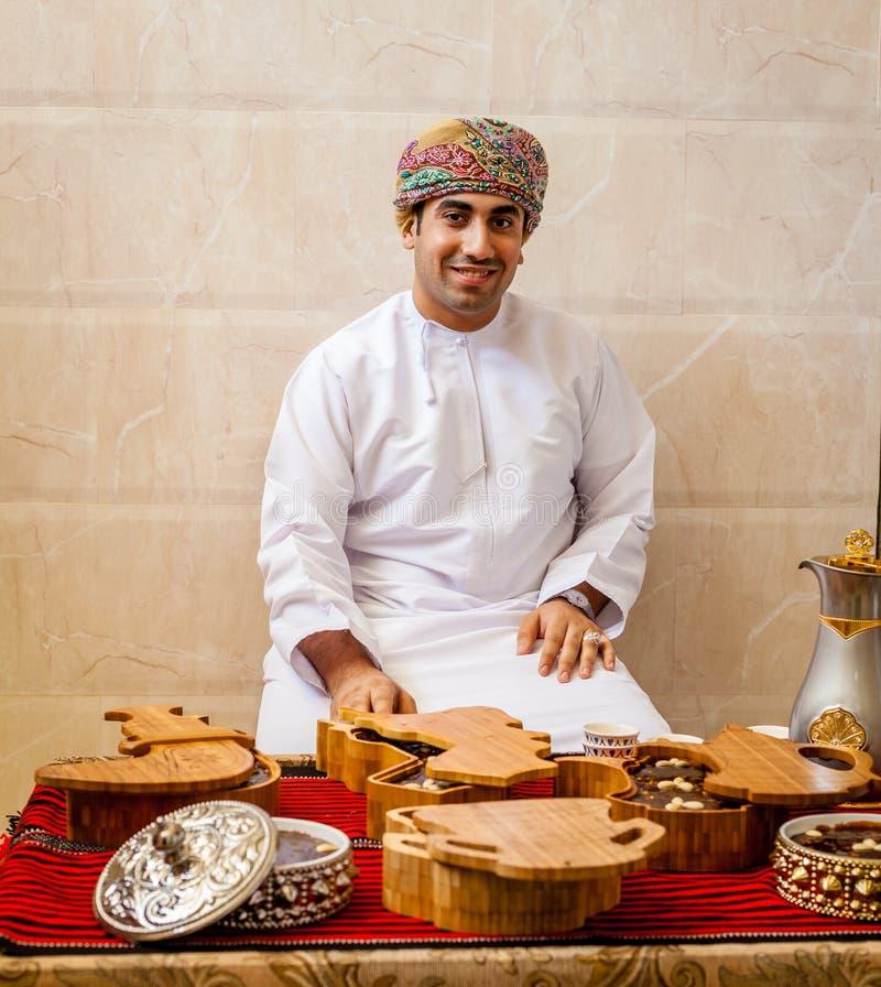 Retrato de um homem omanense fotos de stock royalty free