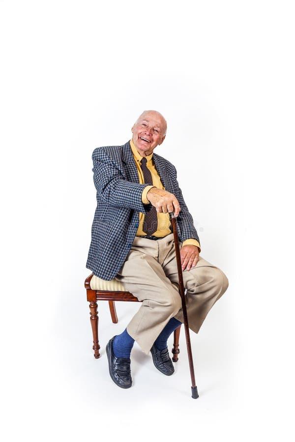 Retrato de um homem sênior fotos de stock