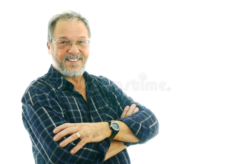 Retrato de um homem sênior foto de stock royalty free