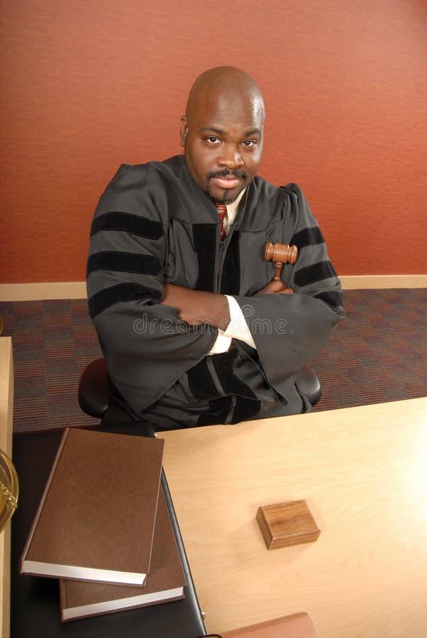 Retrato de um juiz fotografia de stock royalty free