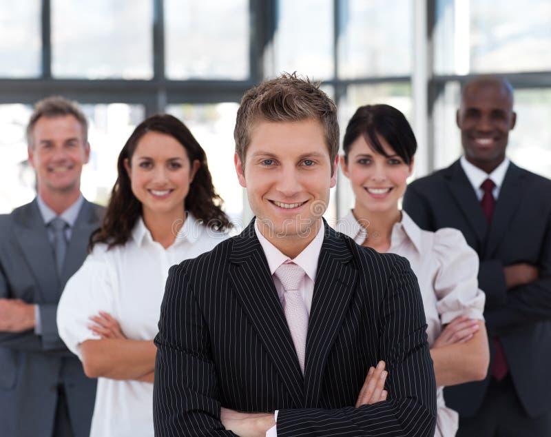Retrato de um líder de negócio confiável fotografia de stock royalty free