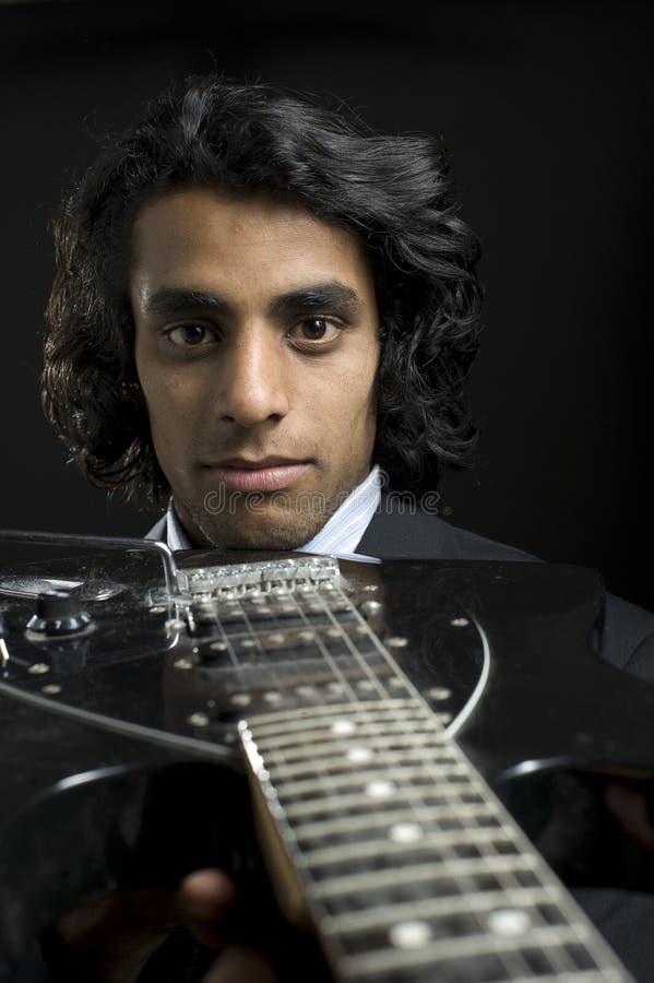 Retrato de um músico foto de stock royalty free