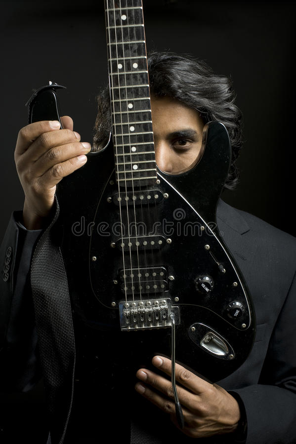 Retrato de um músico foto de stock