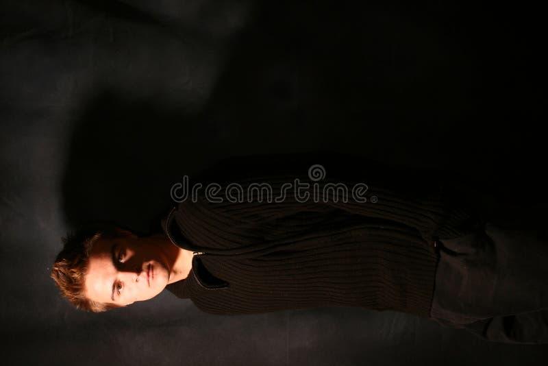 Retrato de um macho novo imagens de stock royalty free