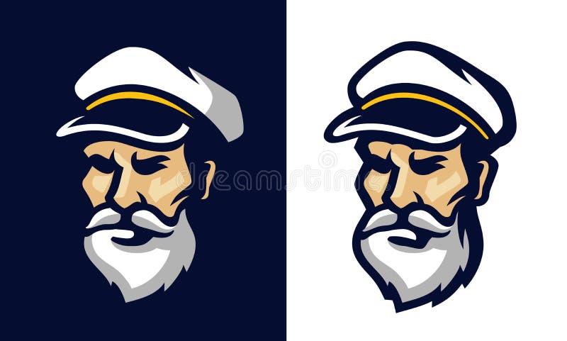 Retrato de um marinheiro ilustração royalty free