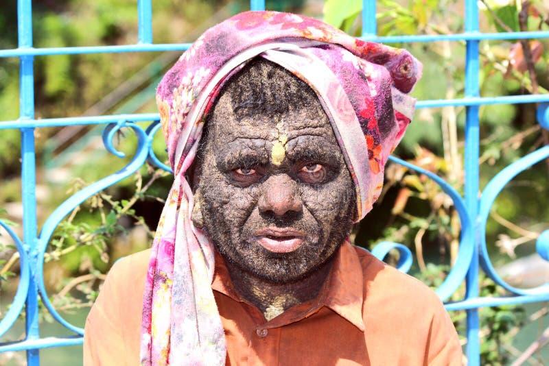 Retrato de um mendigo fotografia de stock royalty free