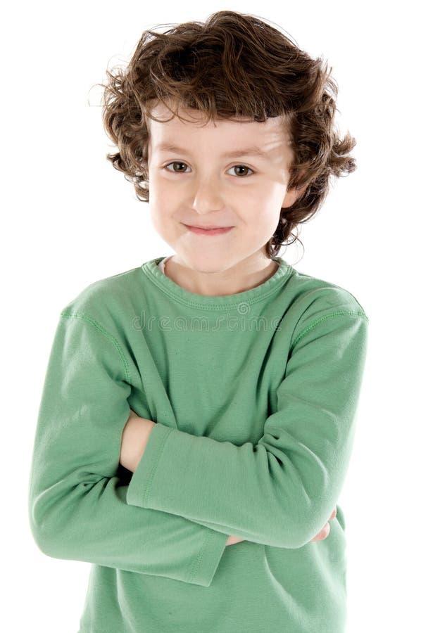 Retrato de um menino considerável fotos de stock royalty free