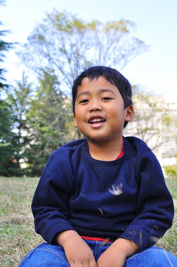 Retrato de um menino do Malay foto de stock royalty free