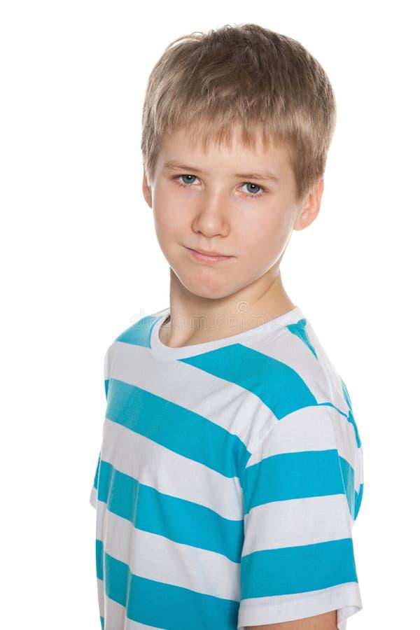 Retrato de um menino do preteen foto de stock royalty free