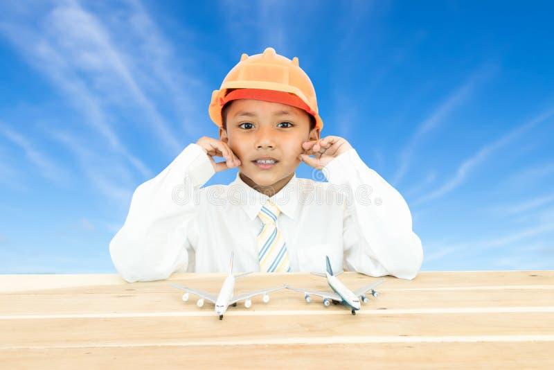 Retrato de um menino novo fotografia de stock