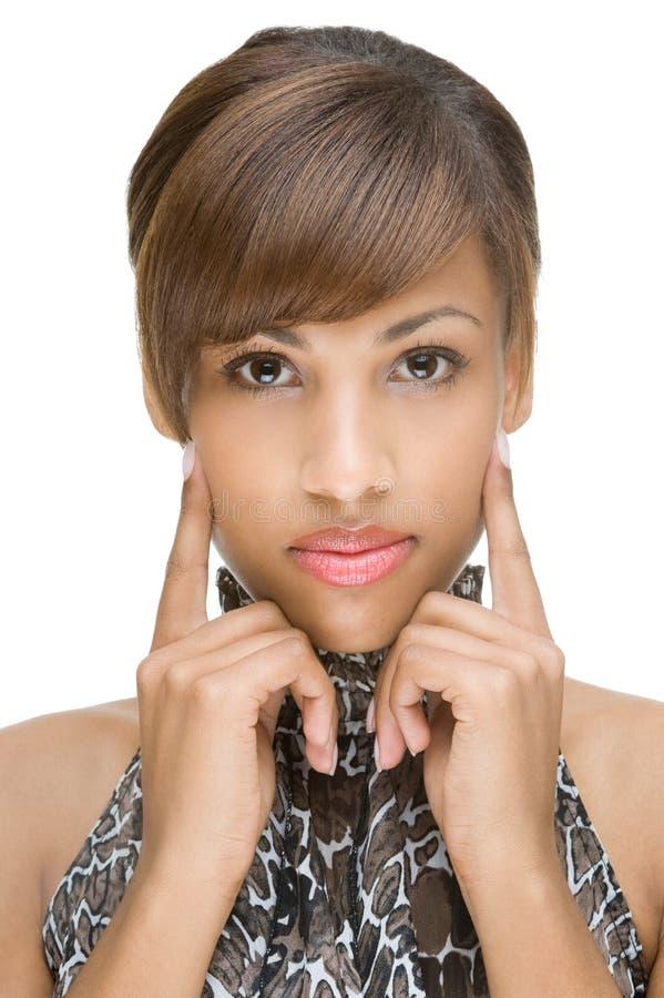 Retrato de um modelo africano fotografia de stock royalty free