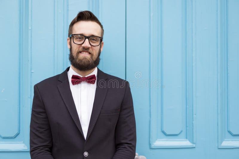 Retrato de um noivo imagens de stock