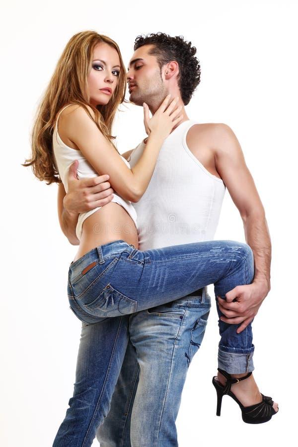 Download Retrato De Um Par Apaixonado Novo Imagem de Stock - Imagem de bonito, flirting: 16858139