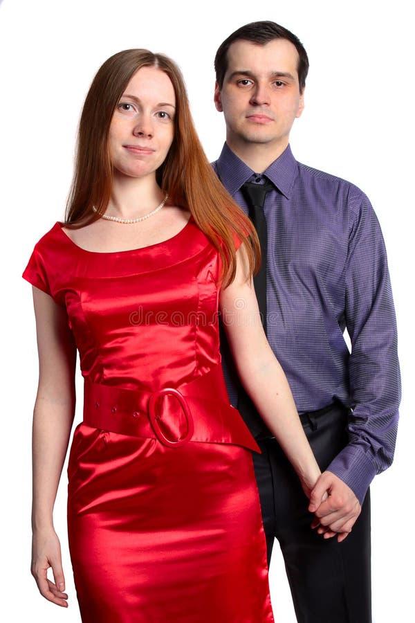 Retrato de um par. Mulher e homem bonitos imagens de stock royalty free