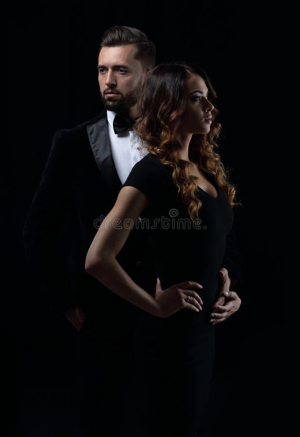 Retrato de um par novo da forma fotos de stock royalty free