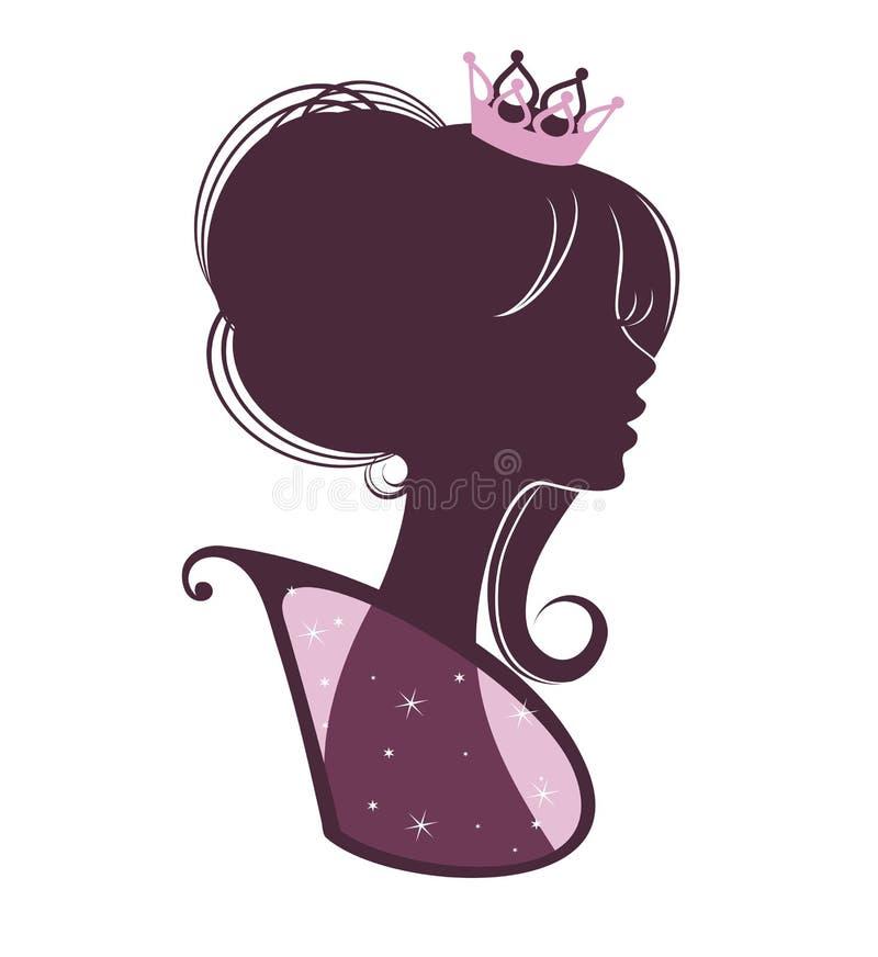 Retrato de um Princess4 ilustração do vetor