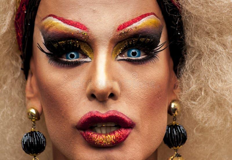 Retrato de um transgender foto de stock royalty free