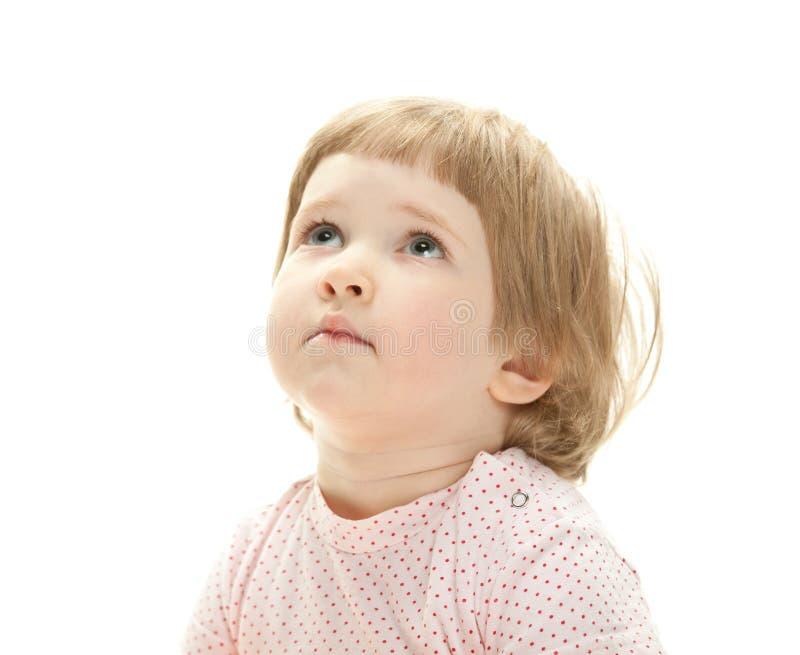 Retrato de uma criança séria imagem de stock
