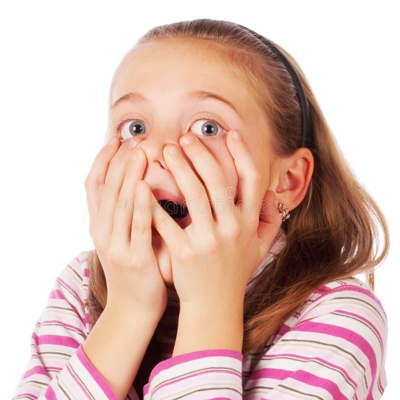 Retrato de uma criança surpreendida imagens de stock royalty free