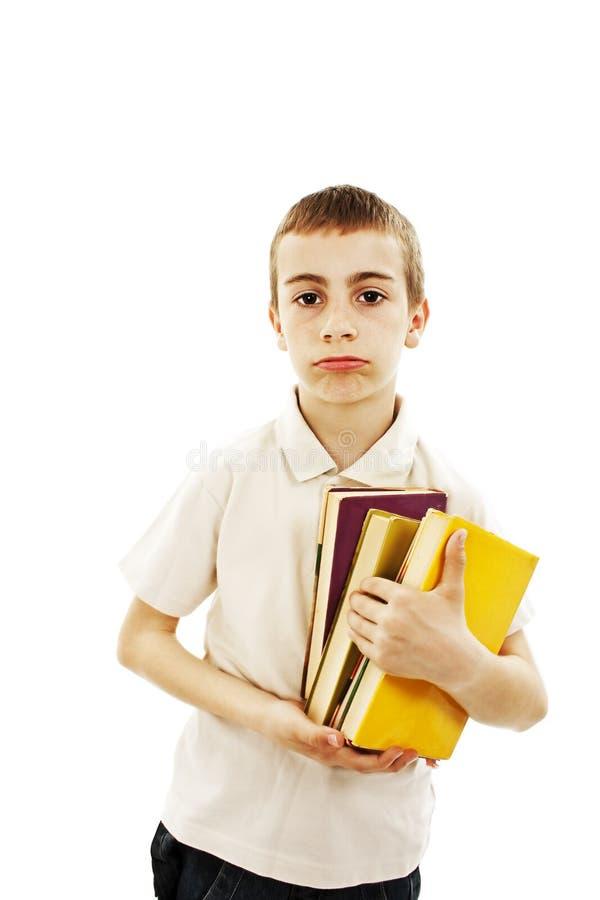 Retrato de uma estudante com livros imagens de stock royalty free