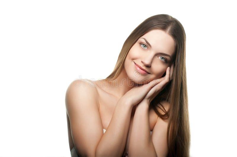 Retrato de uma fêmea bonita fotos de stock royalty free