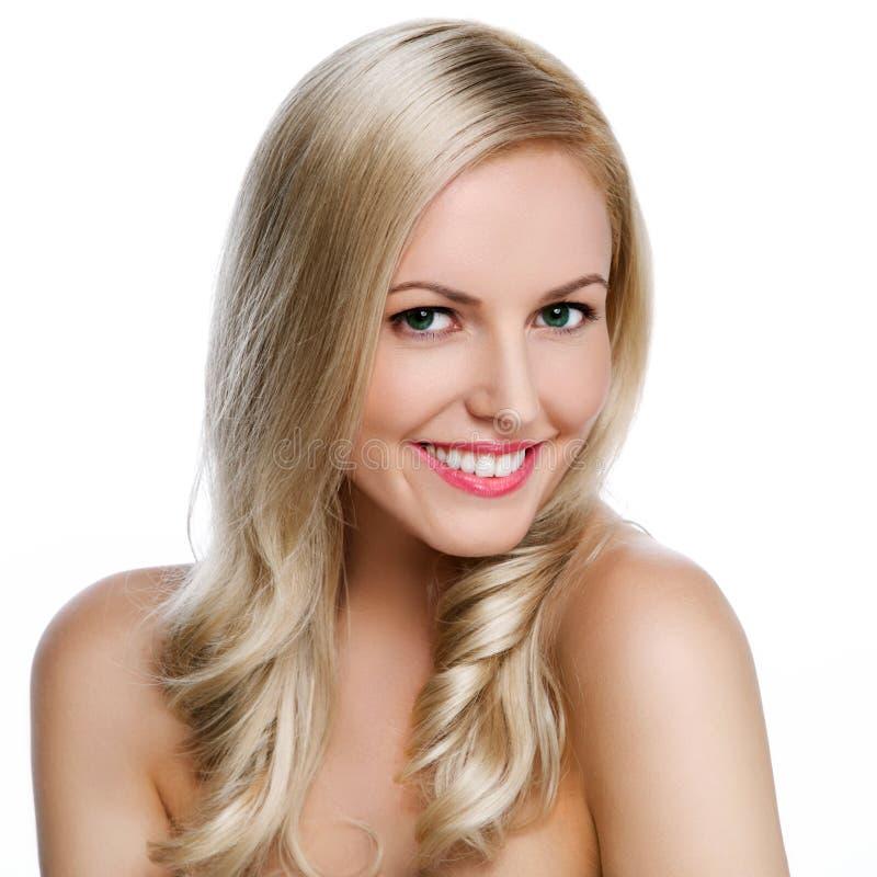 Retrato de uma fêmea bonita imagens de stock royalty free