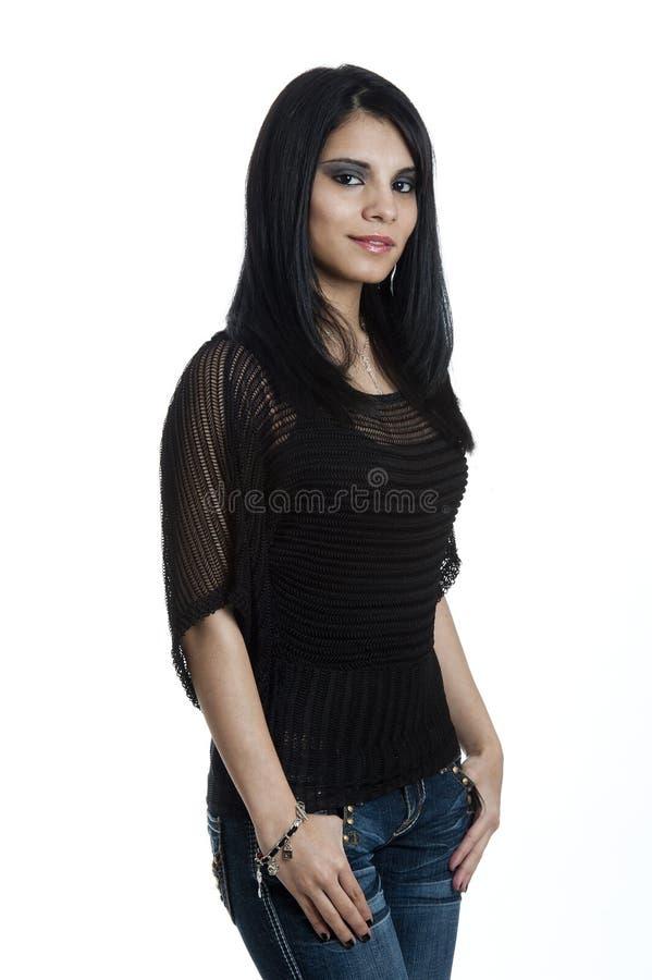 Retrato de uma fêmea latino-americano nova imagens de stock