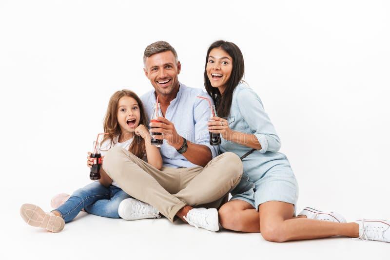 Retrato de uma família alegre imagens de stock royalty free