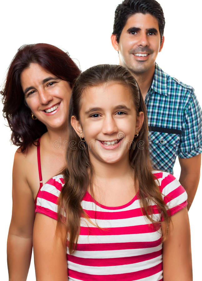 Retrato de uma família latino-americano feliz fotos de stock royalty free