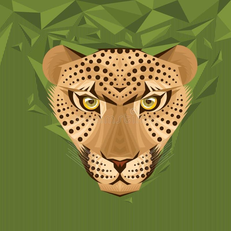 Retrato de uma ilustração do vetor do leopardo ilustração do vetor
