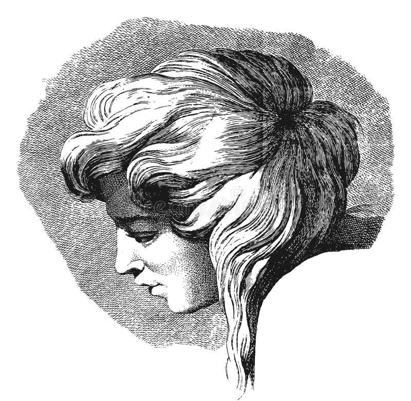 Retrato de uma jovem mulher ilustração do vetor