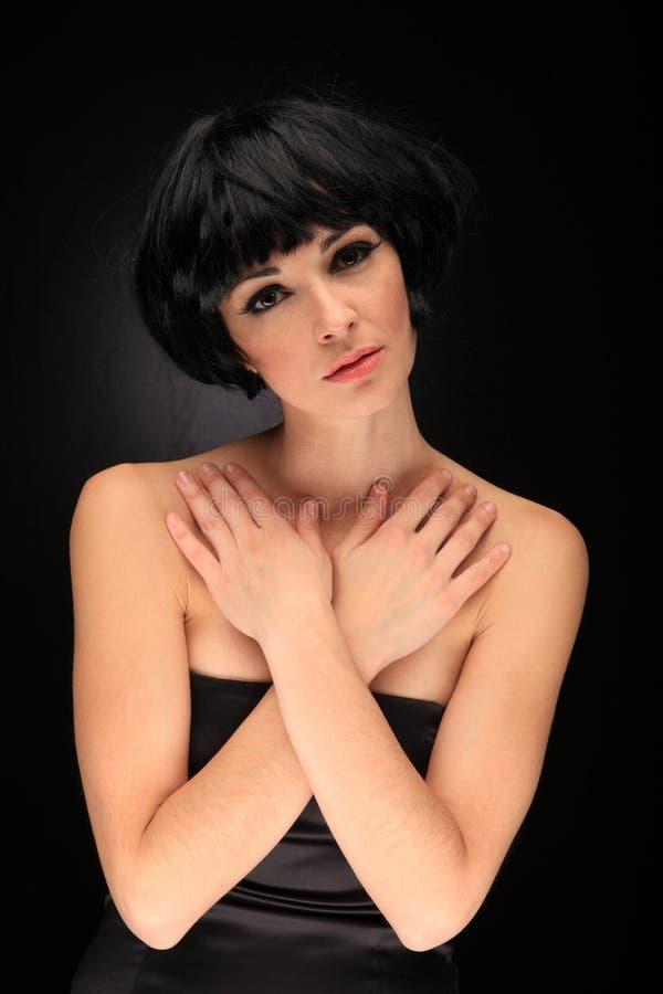 Download Retrato De Uma Menina Bonita Foto de Stock - Imagem de pose, expressão: 29830726