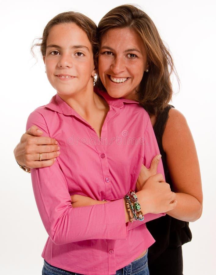 Retrato de uma matriz com sua filha imagens de stock royalty free