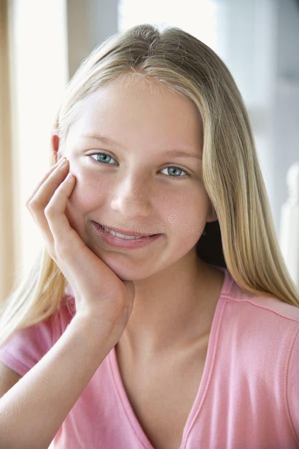 Retrato de uma menina. fotografia de stock royalty free