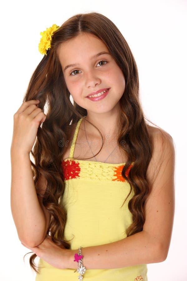 Retrato de uma menina adorável do preteen imagem de stock royalty free