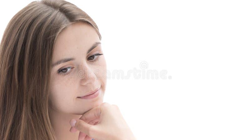 Retrato de uma menina agradável fotos de stock