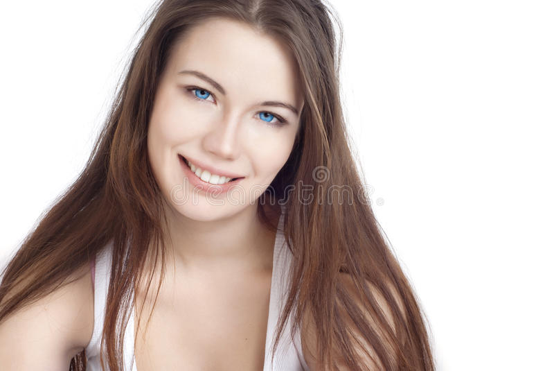 Retrato de uma menina bonita fotografia de stock